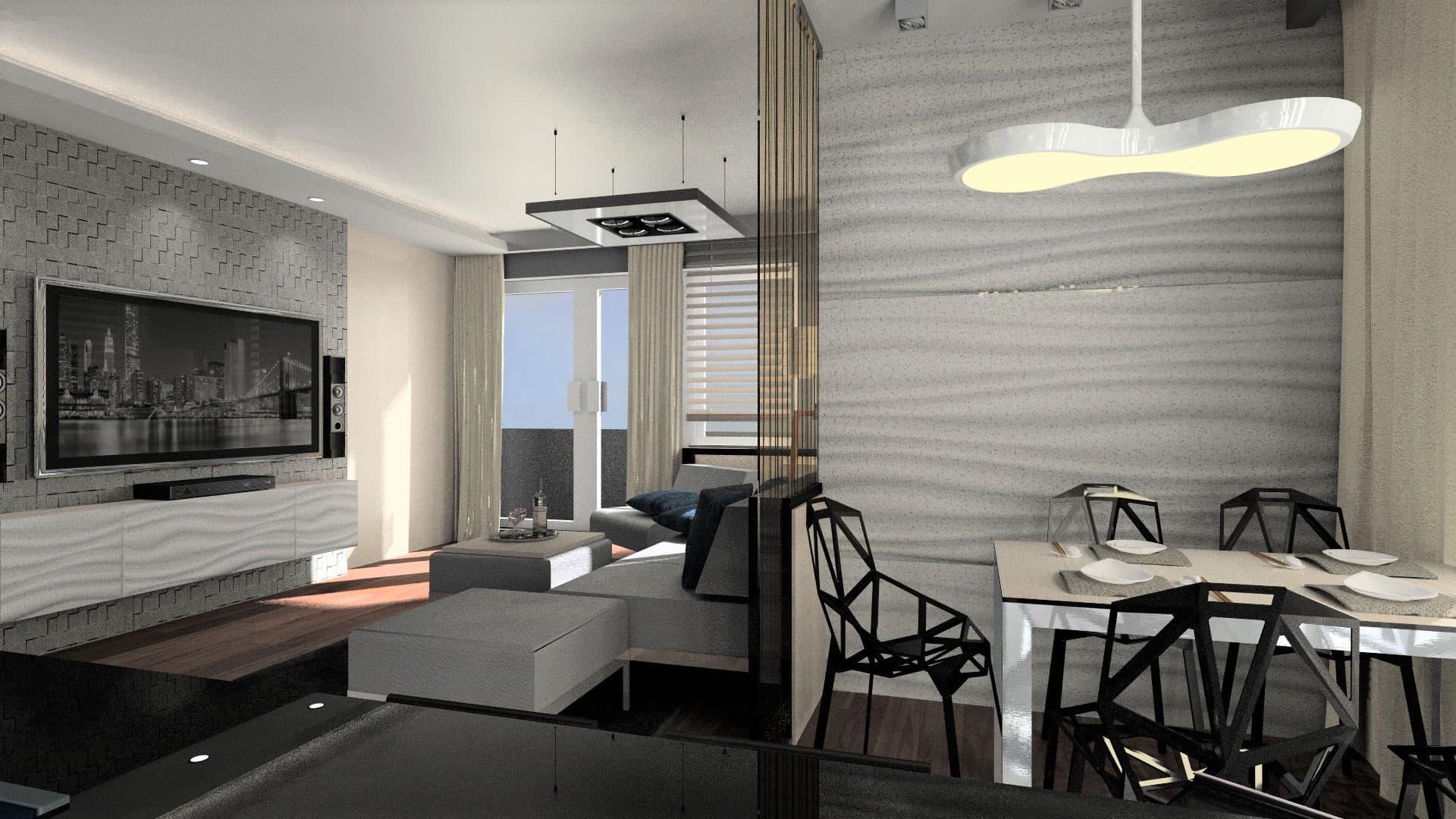 Mieszkanie na Bemowie projekt Bauart Studio