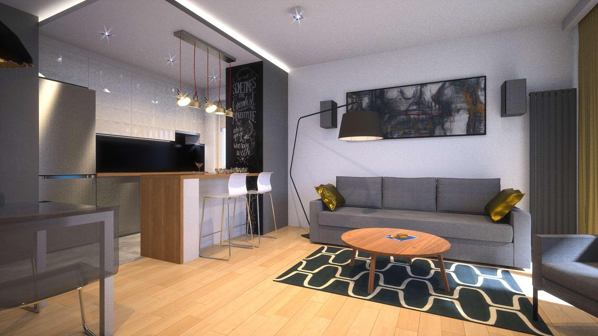 Salon - mieszkanie Ursynów