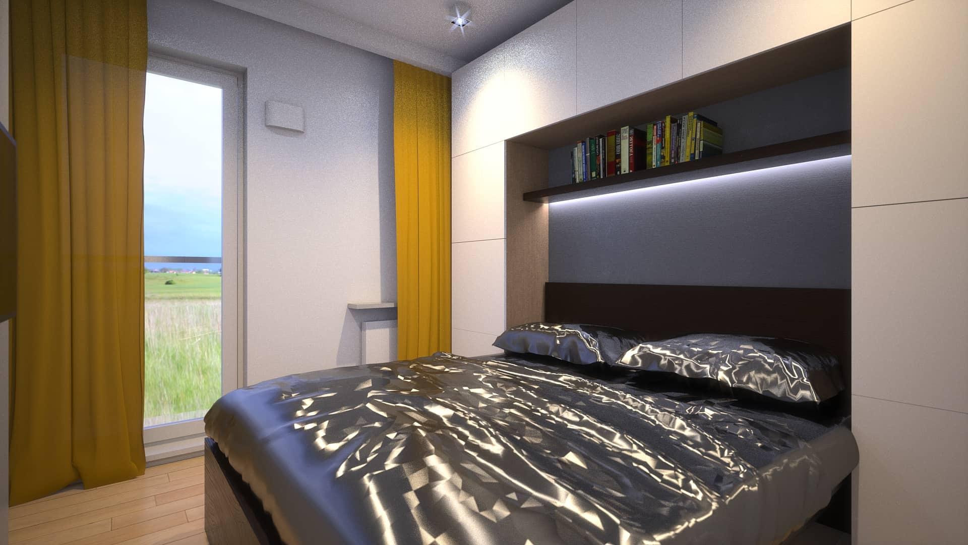 Sypialnia w mieszkaniu na Ursynowie