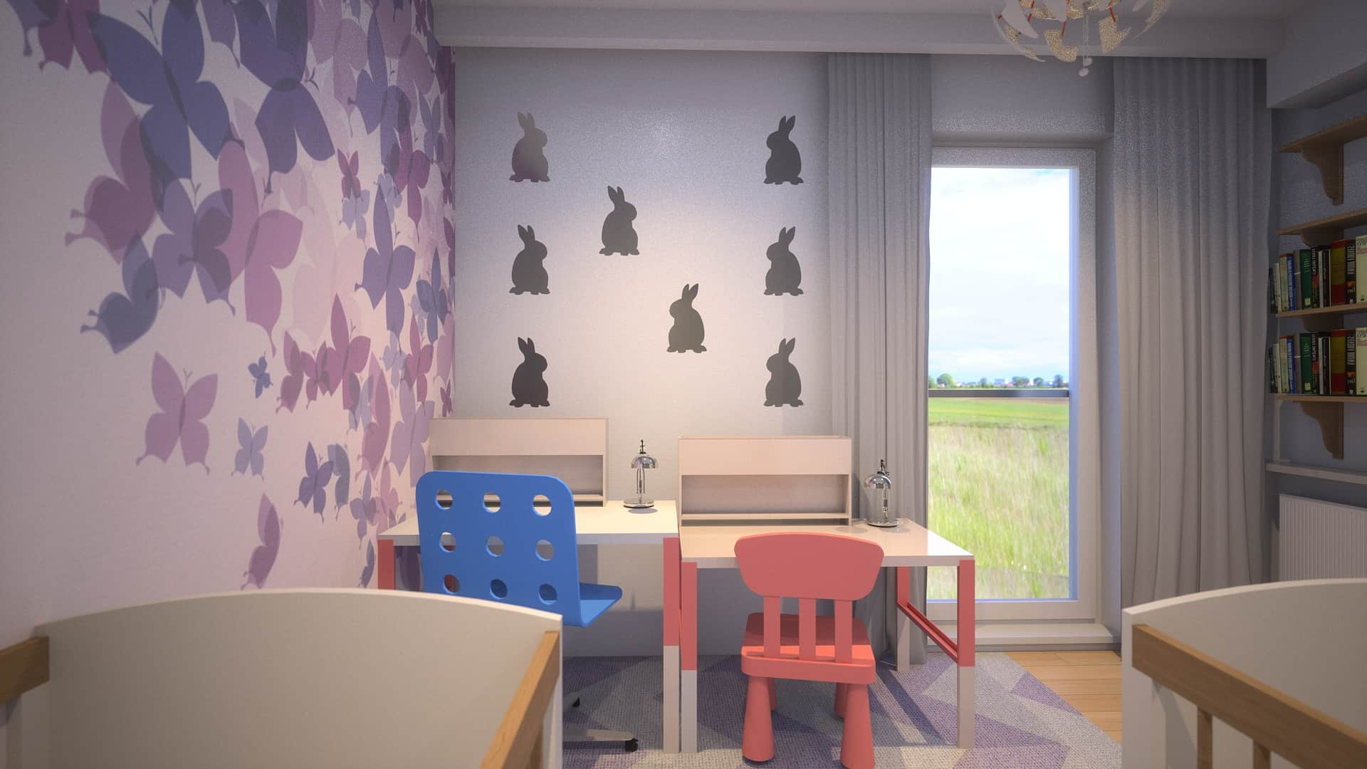 Pokój dziecięcy w apartamencie na Ursynowie