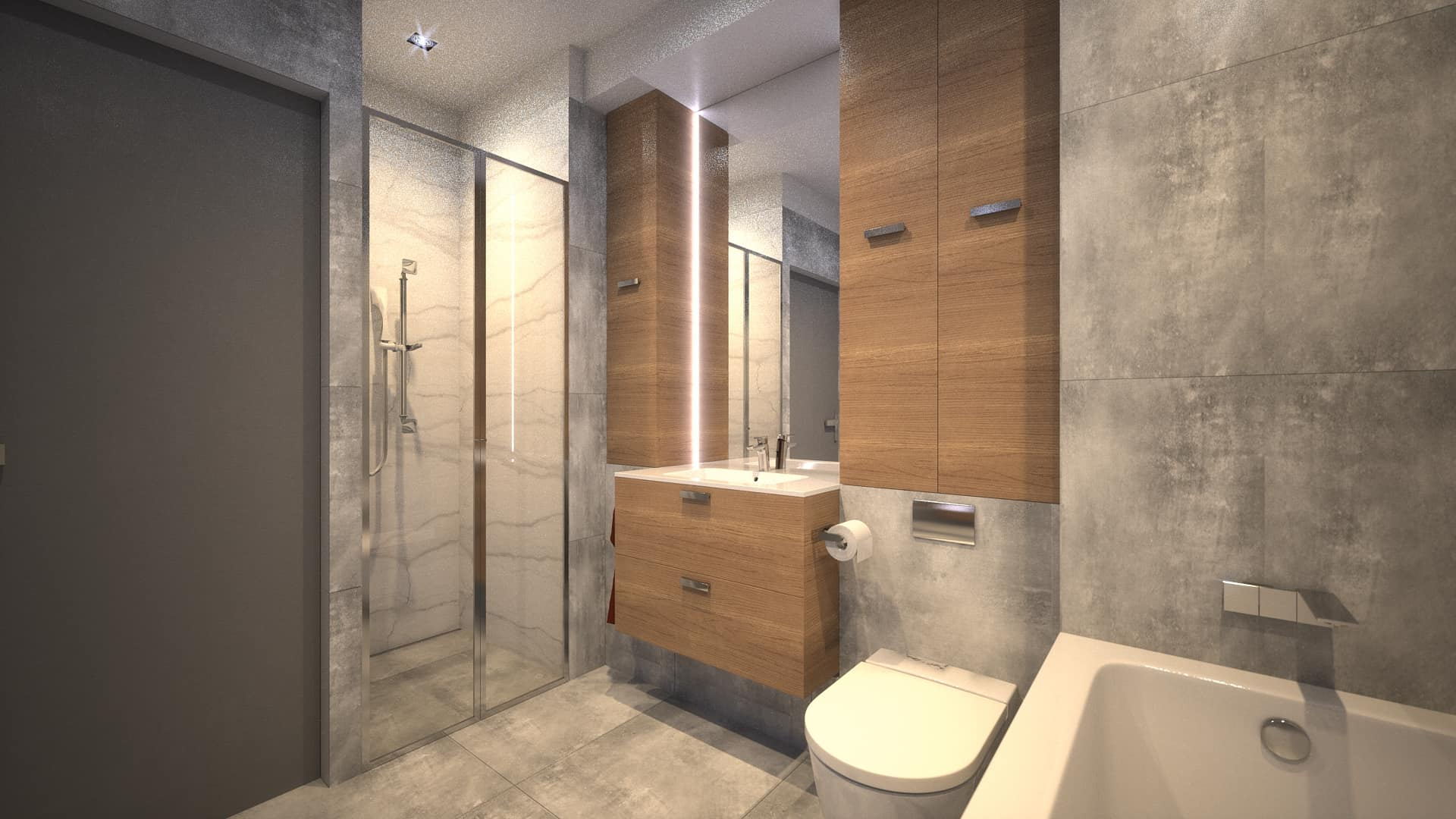 Zaprojektowana łazienka w apartamencie na Ursynowie