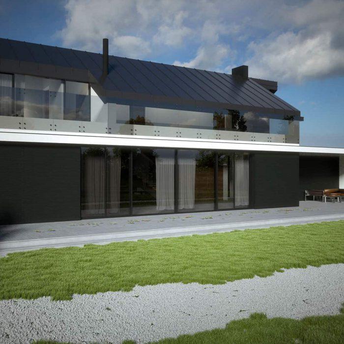 Wall House Józefów Warszawa - projekt domu z wnętrzem