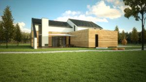 Nowoczesny dom jednorodzinny - wizualizacja