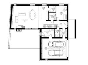 Rzut nowoczesnego domu