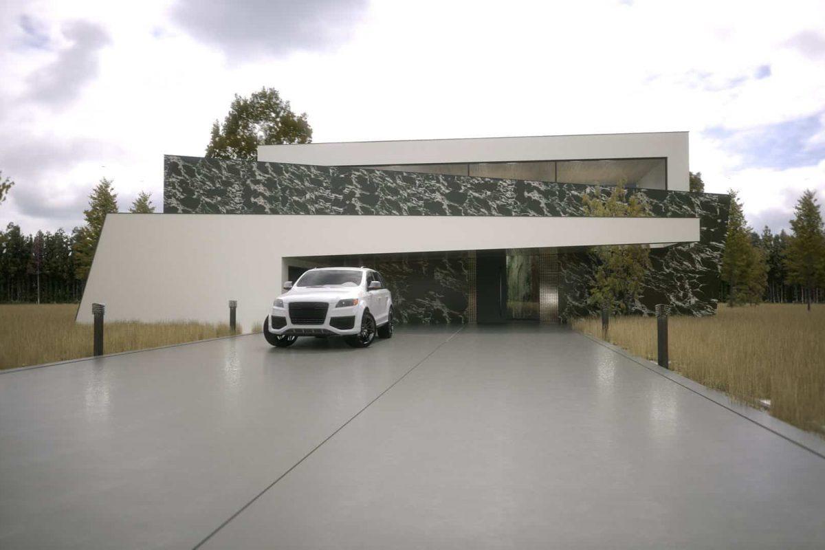 Frame House Konstancin Jeziorna - projekt domu z wnętrzem